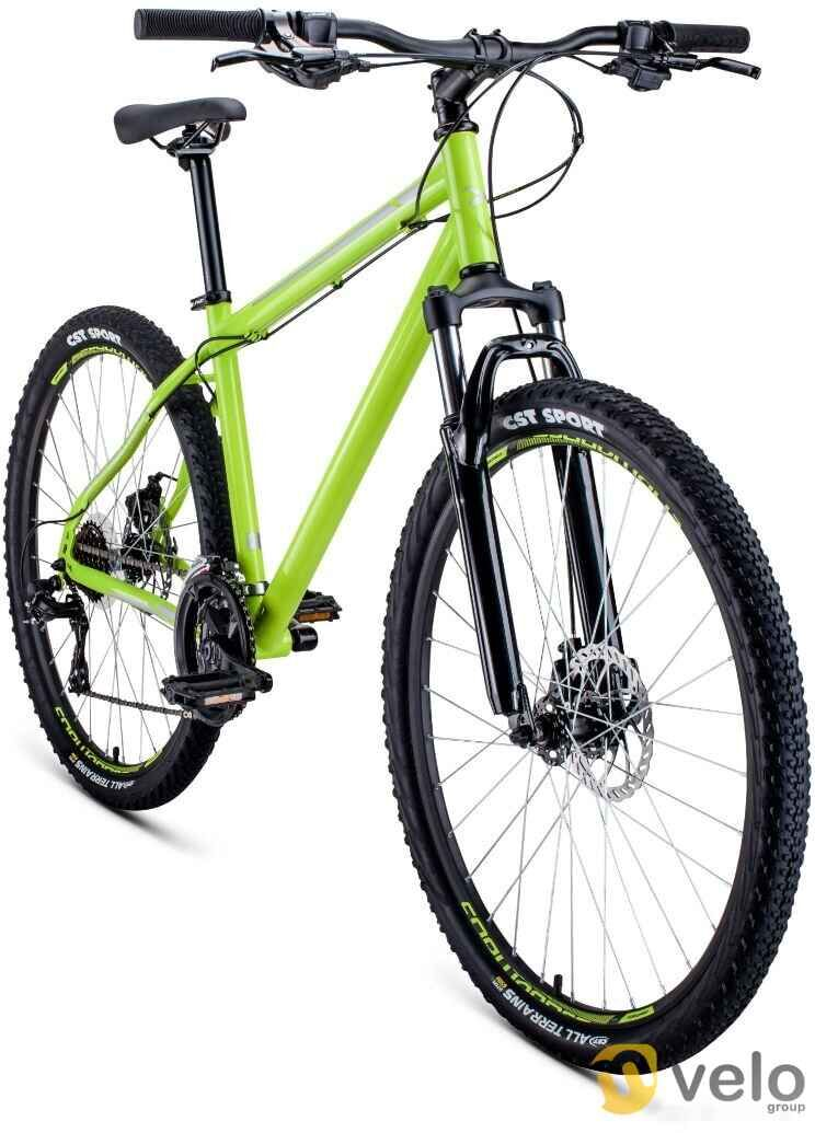 Велосипед Forward Sporting 27.5 2.0 disc р.19 2020 (салатовый)